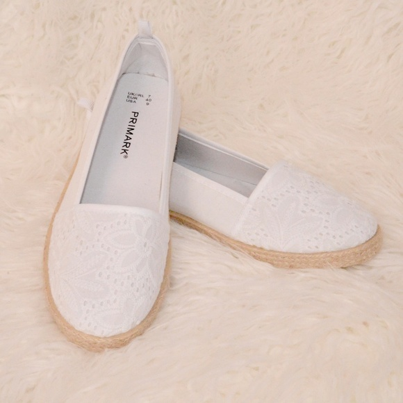 Primark Shoes   Primark White Flats